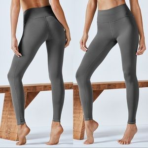 Fabletics PureLuxe High Waisted Gray Leggings Gym